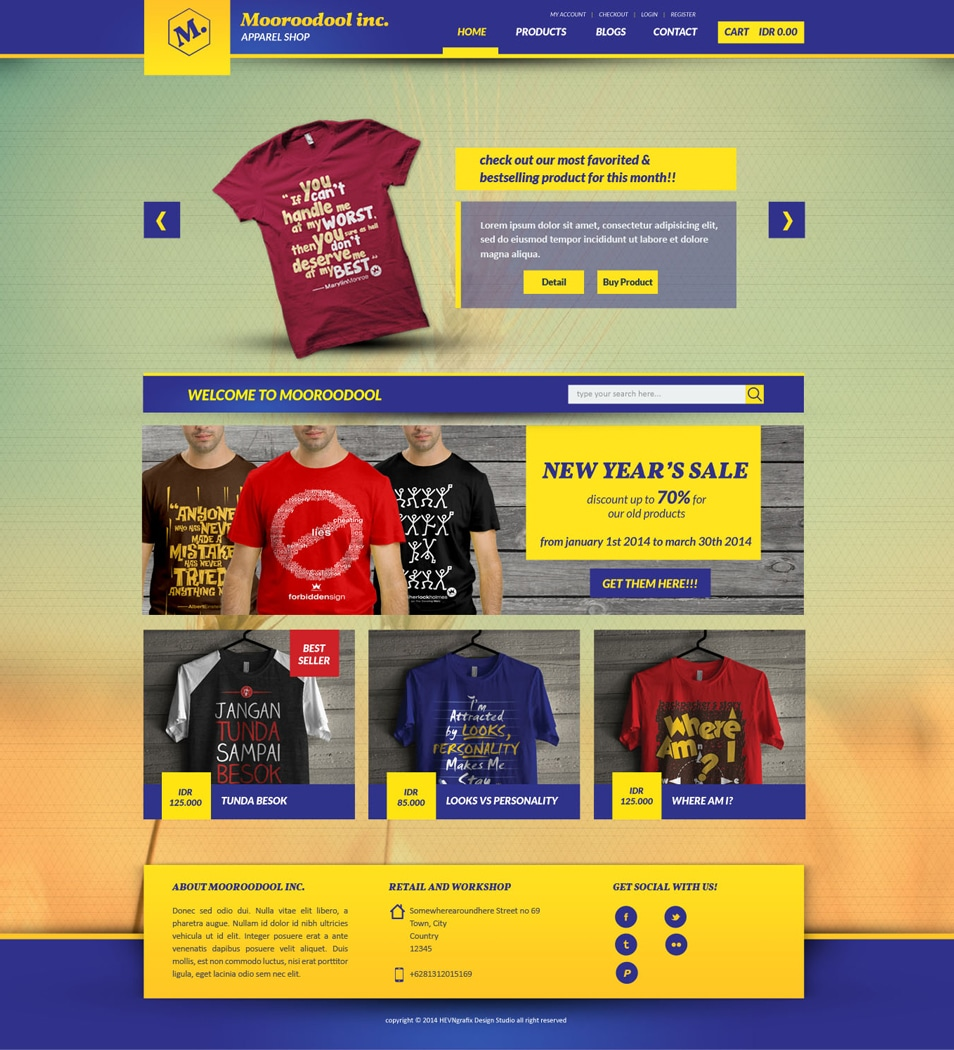 Mooroodool e commerce website template psd for E commerce sites templates