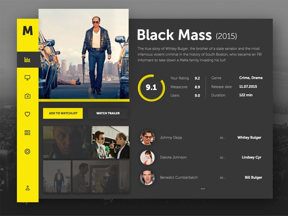 Movie Dashboard UI