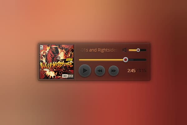 Music-Player-Widget