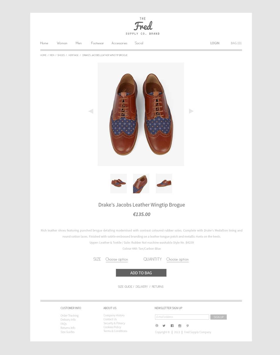Online Store Web Design PSD