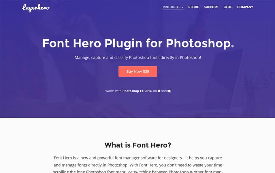 Photoshop Font Hero Plugin