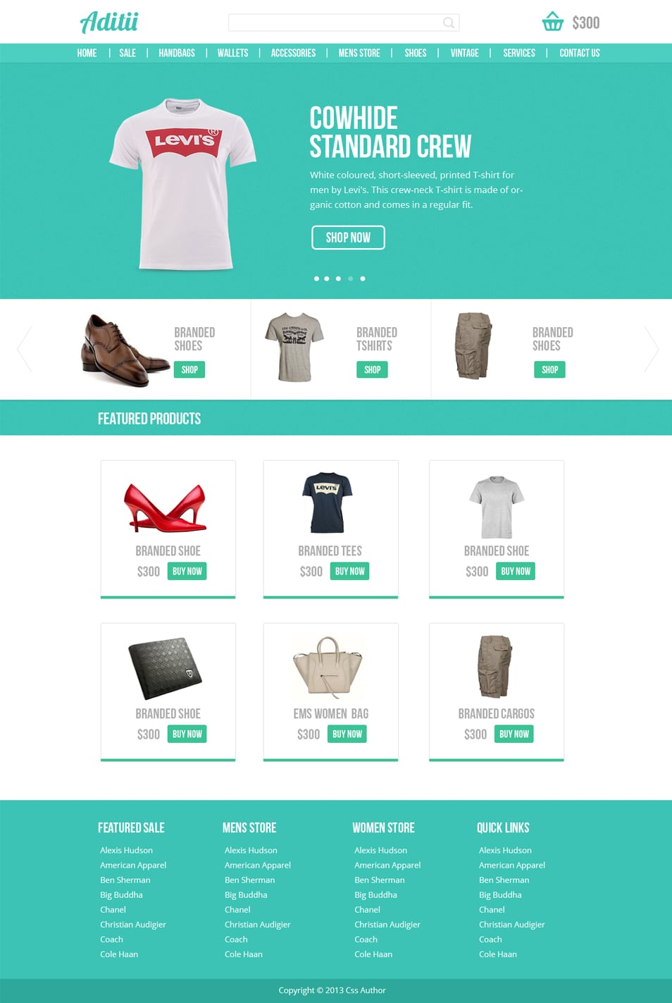 Premium Ecommerce Website Template PSD
