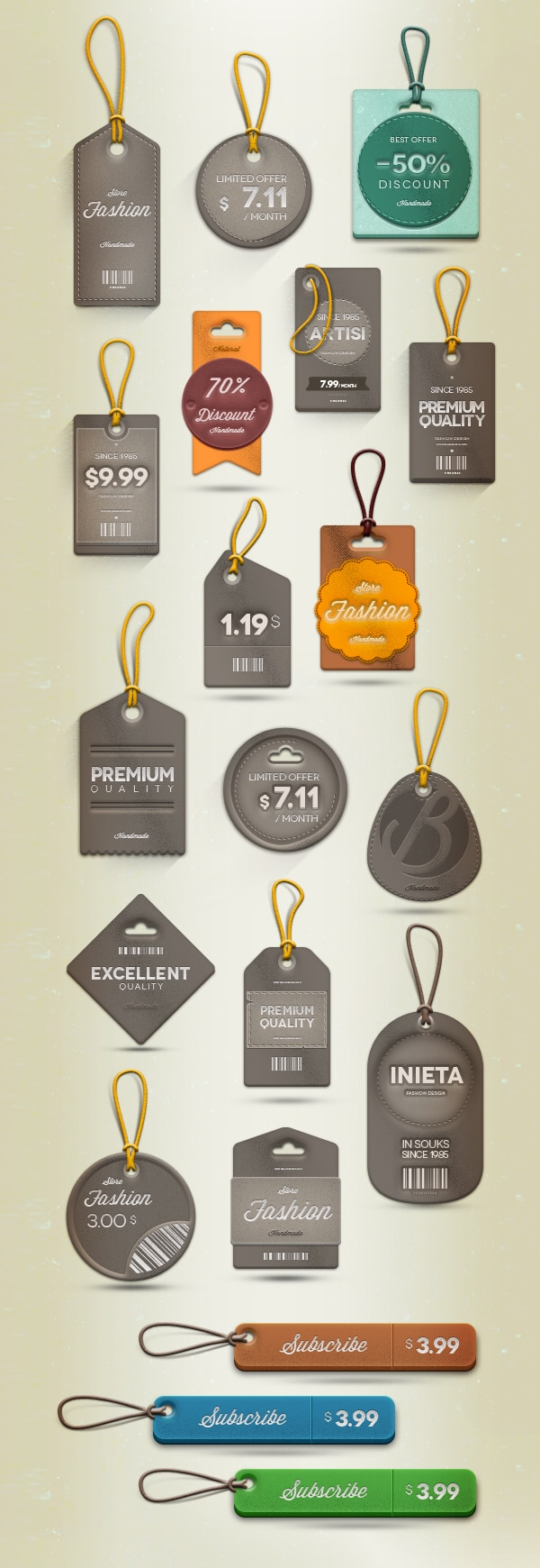 Premium-Psd-Labels