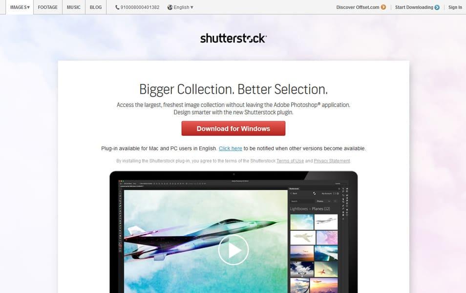 Shutterstock Photoshop Plugin