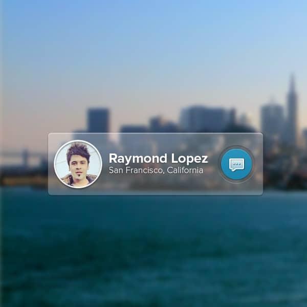 Simple-Message-Widget-PSD