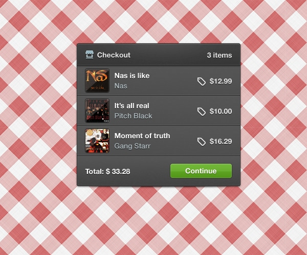 Simple-Shopping-Cart-Checkout-Widget