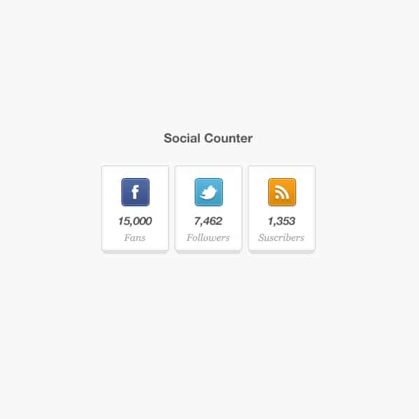 Social Counter Widget