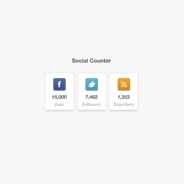 Social Counter Widget