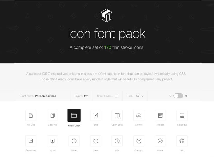 Stroke-7-Icon-Font-Set