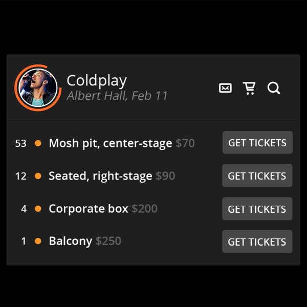 Tickets-Widget
