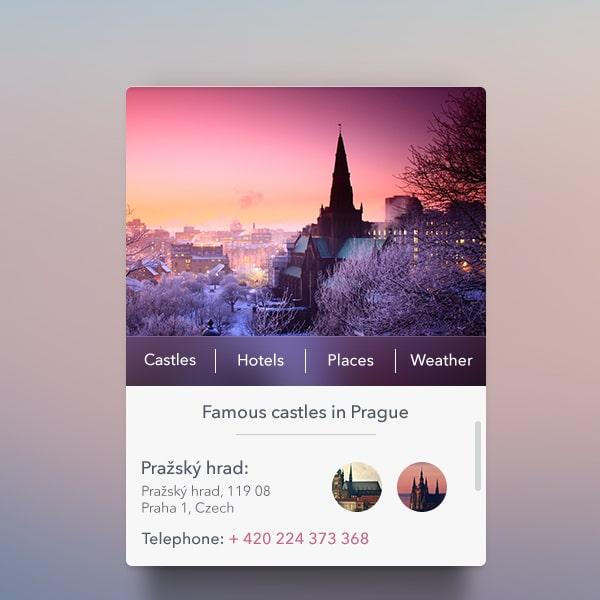 Travel-Widget-PSD