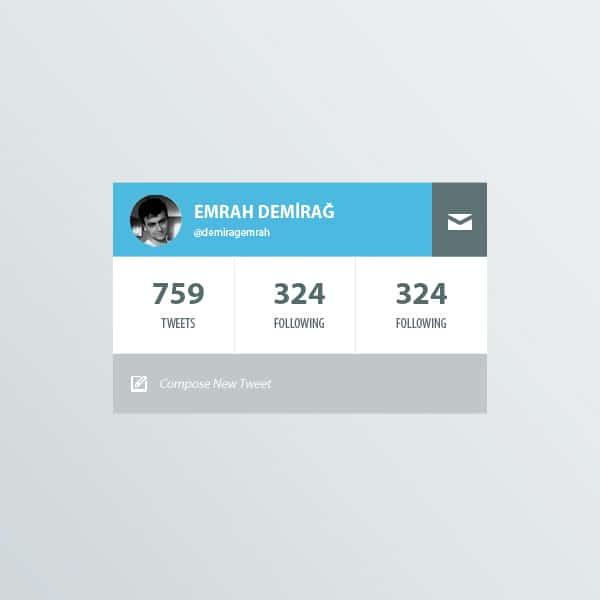 Twitter-Profile-Widget