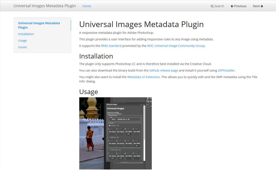 Universal Images Metadata Plugin