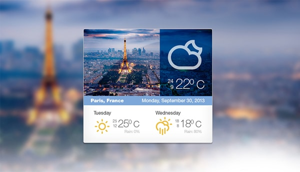 Weather Widget Free PSD