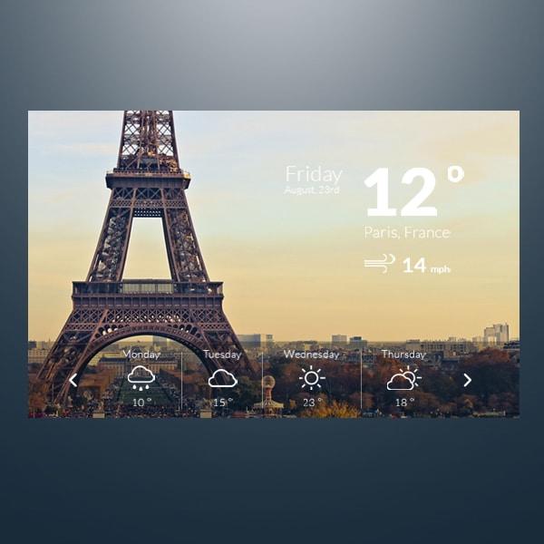 Weather-Widget--PSD