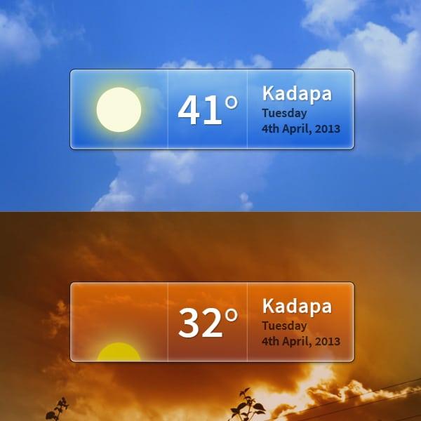 Weather-Widget-PSD
