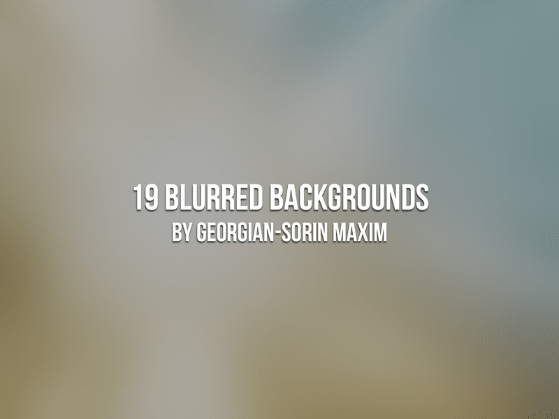 19 Blurred Backgrounds