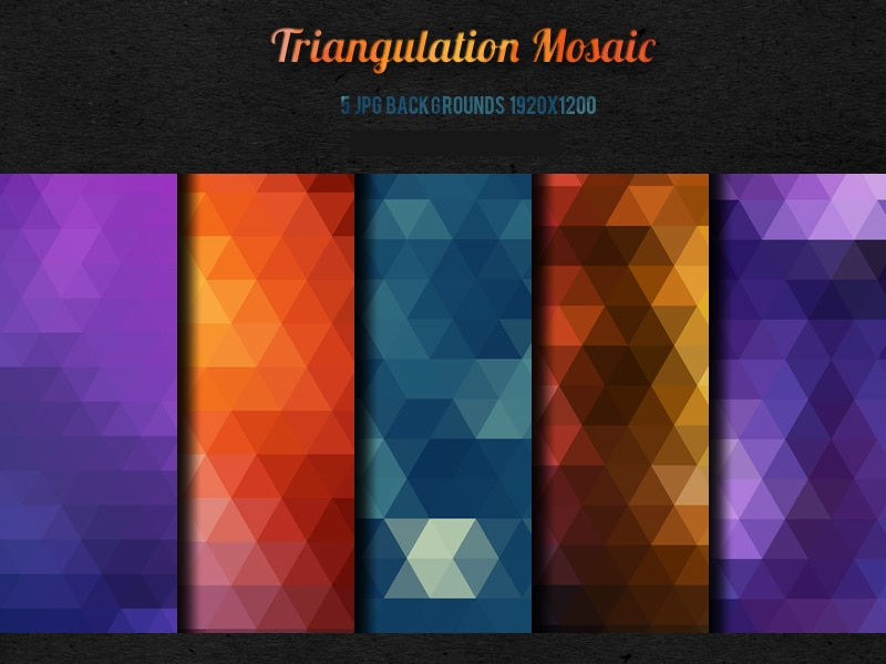 5-Triangulation-Mosaic-backgrounds