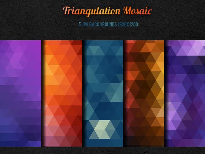 5-Triangulation-Mosaic-backgrounds