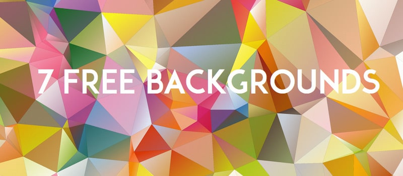 7 Free Polygon Backgrounds