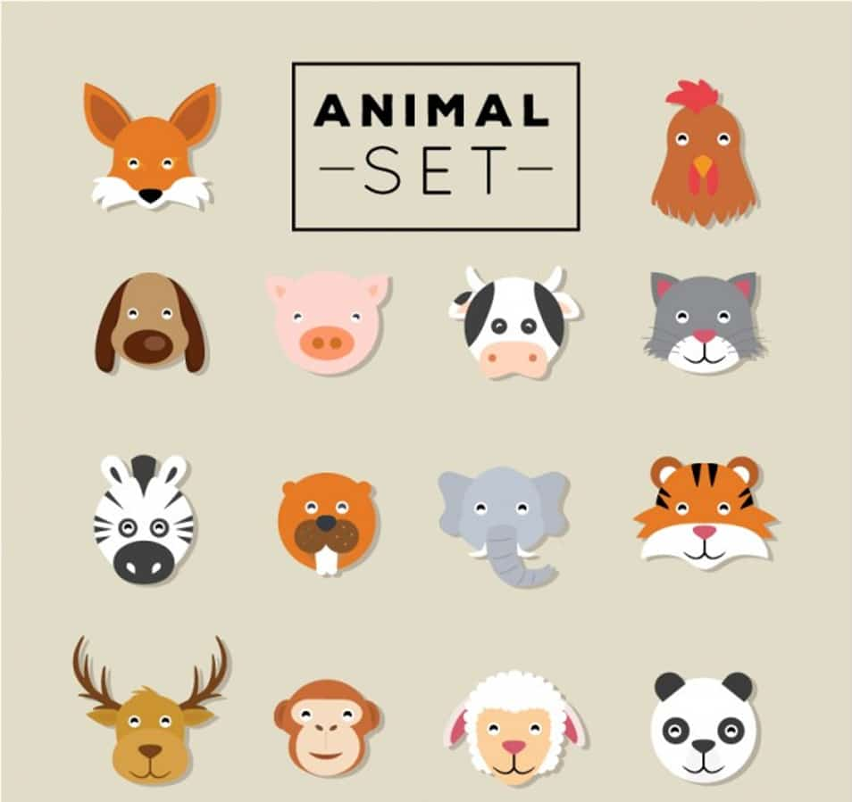 Animals Flat Vector Set