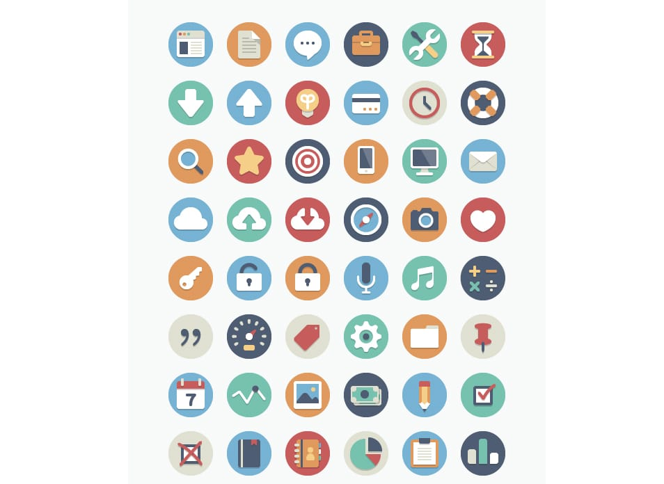 Beautiful 384 Free Flat Icons