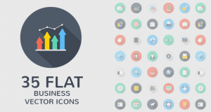 Beautiful Flat style icon set (EPS,AI,PSD,PNG) – Freebie No:144