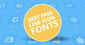 Best Free Line Icon Fonts