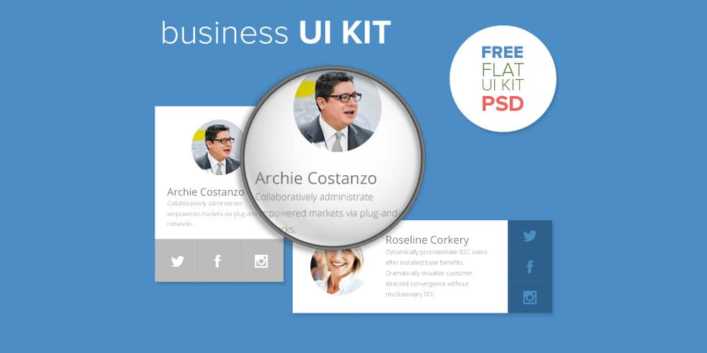 Business UI KIT Free PSD