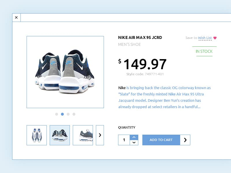 Cart Shop PSD