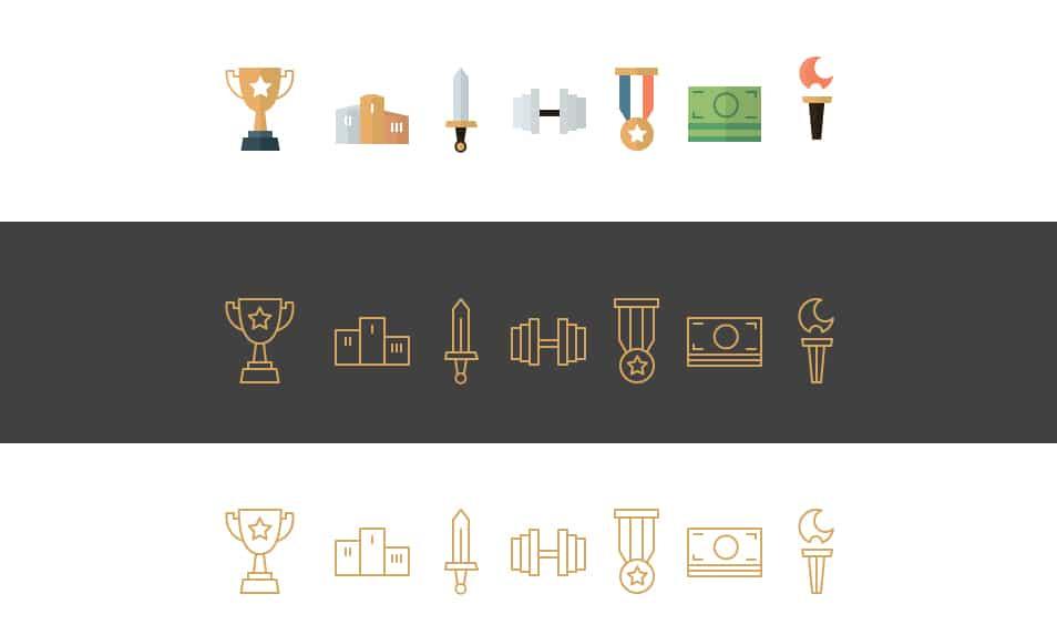 Champicons Free Flat Icons Set