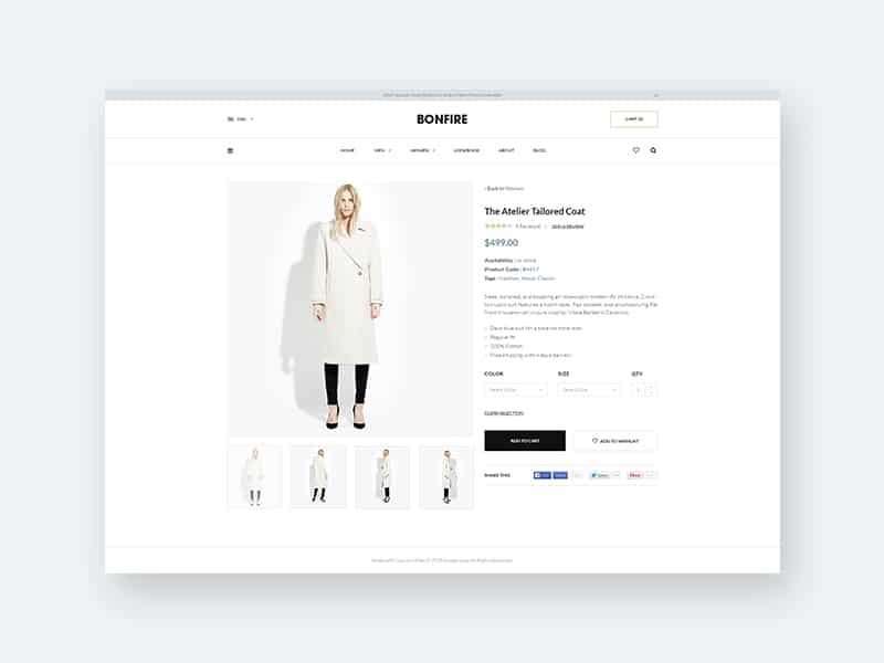 E-commerce Product Layout UI PSD