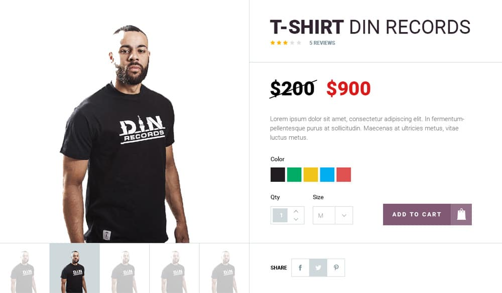 E commerce Shop Single Item UI PSD