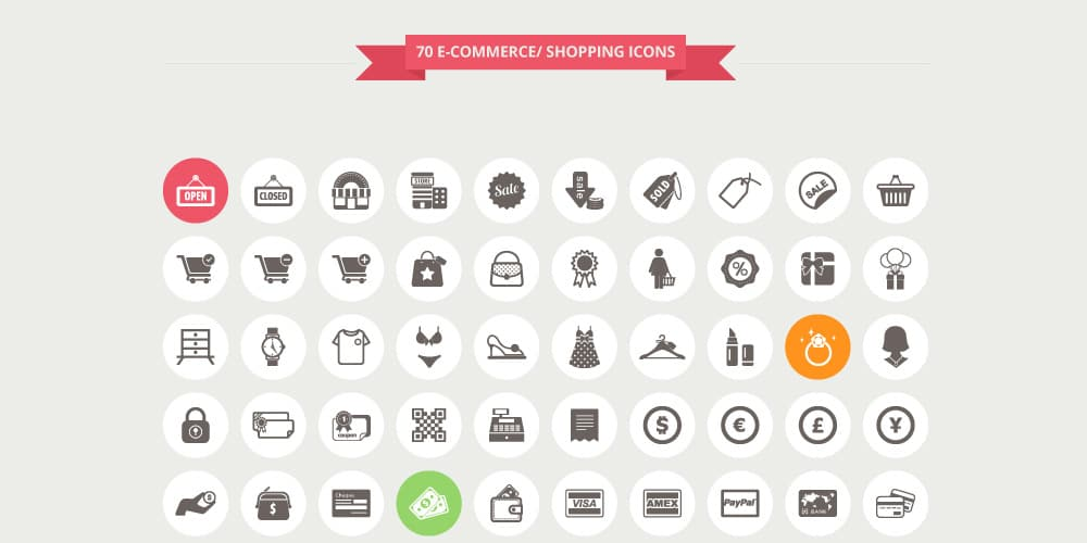Ecommerce and Shopping Icons