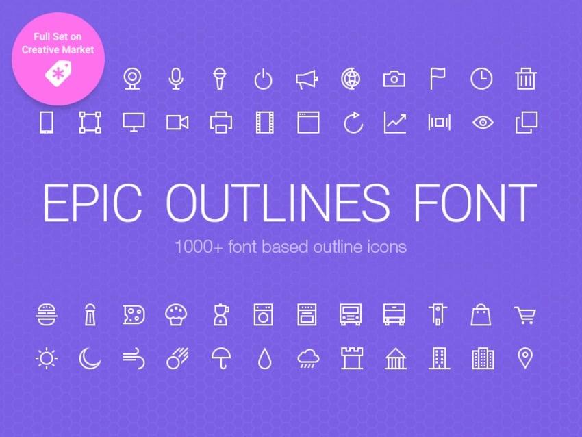 Epic Outlines Font