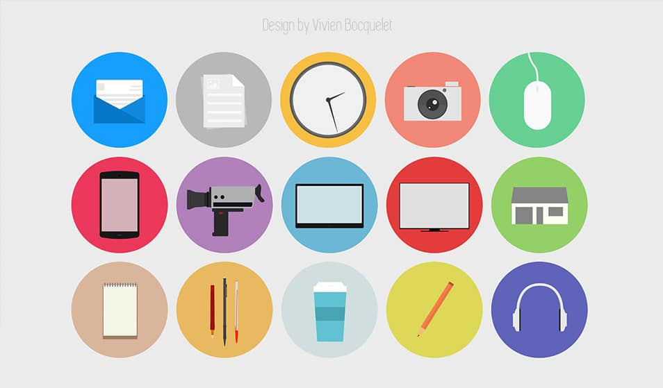 Flat Design free icon set