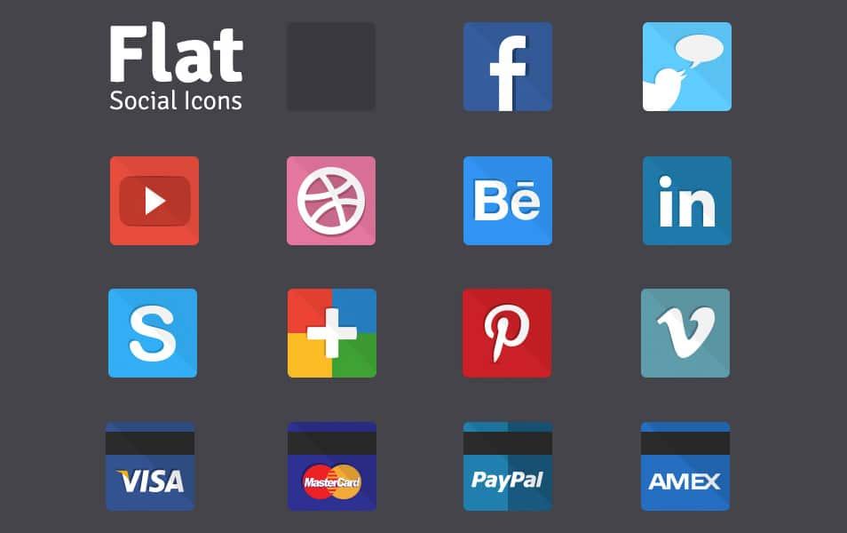 Flat Social Icons (Freebie)
