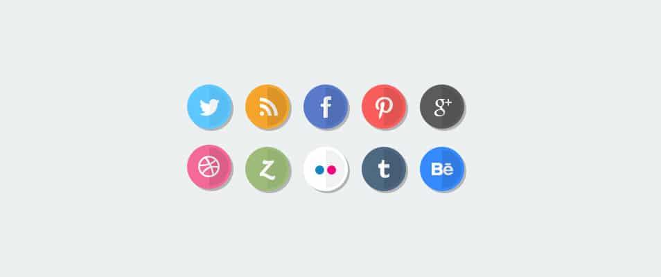Flat Social Media Icons