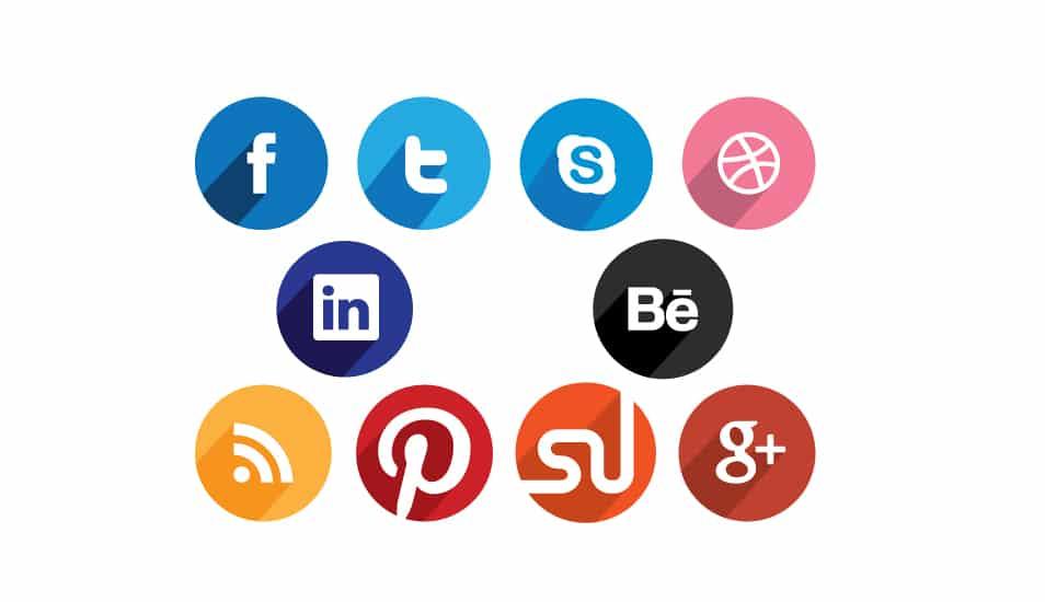 Free Circular Flat Social Media Icons