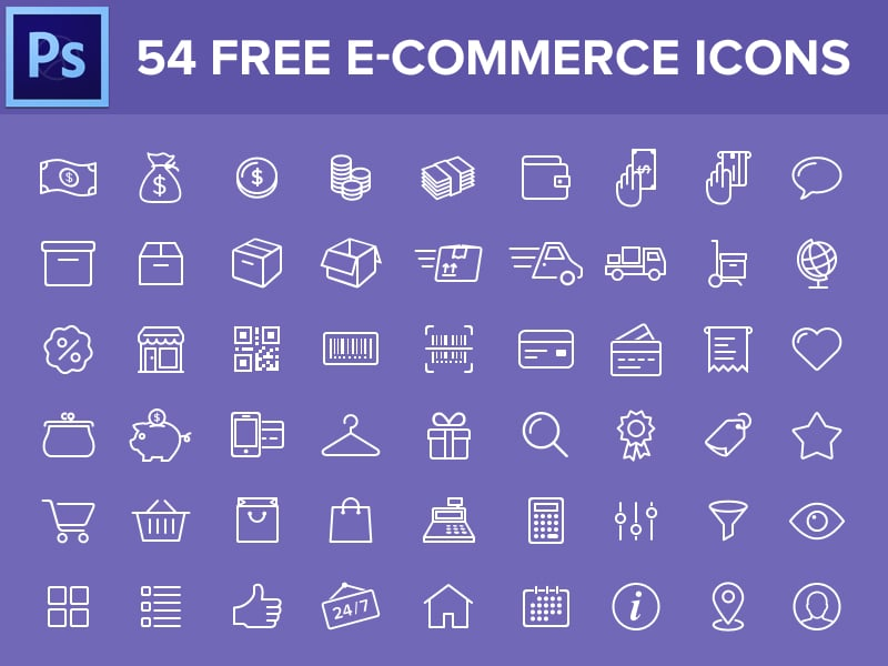Free E Commerce Icons PSD