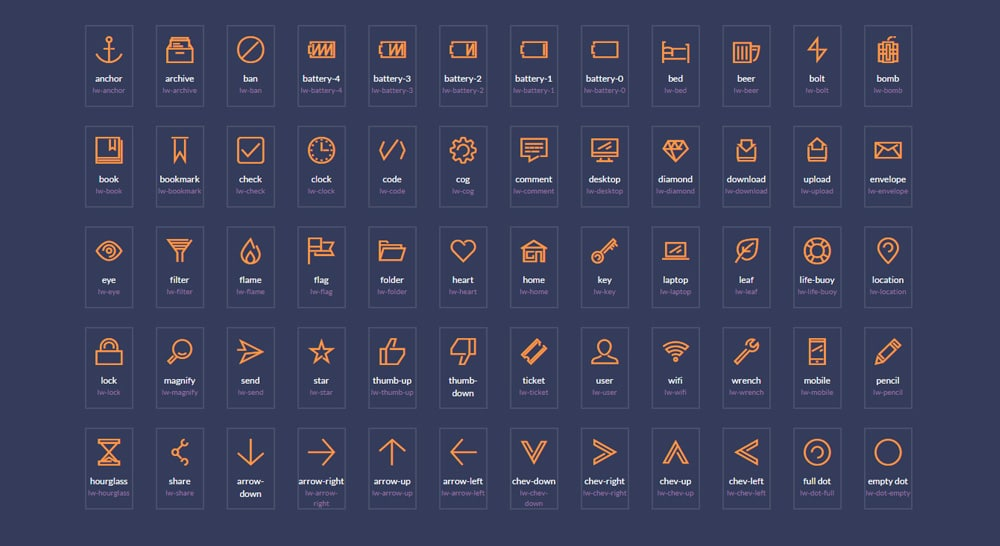 Free Lightwing Icon Font