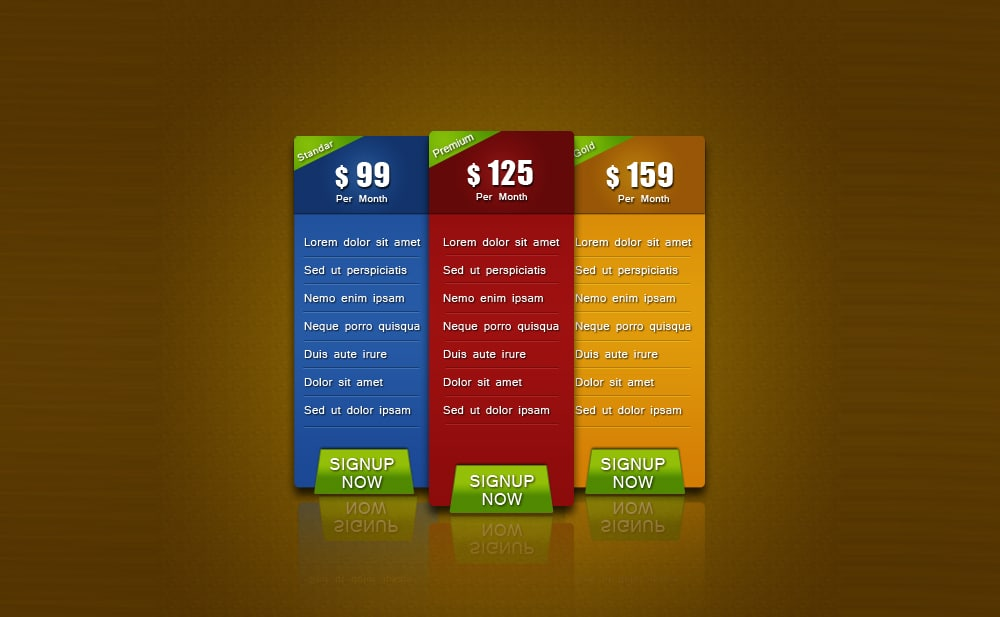 Free-Pricing-Table-PSD