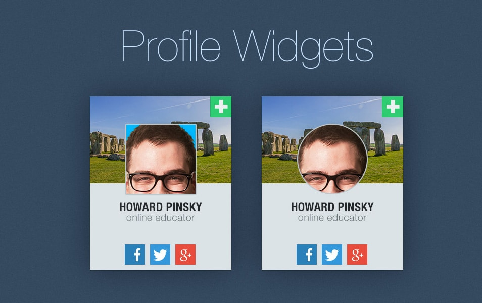 Free-Profile-Widget-PSD