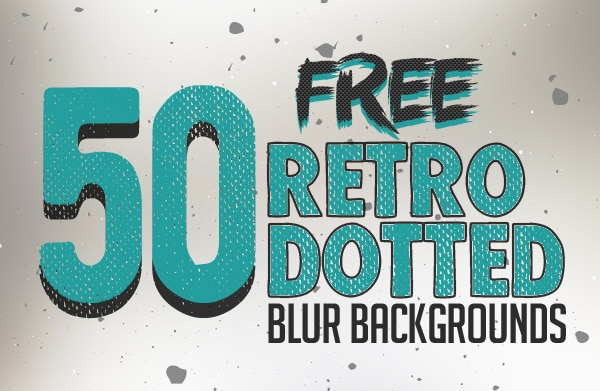 Free Retro Dotted Blurred Backgrounds