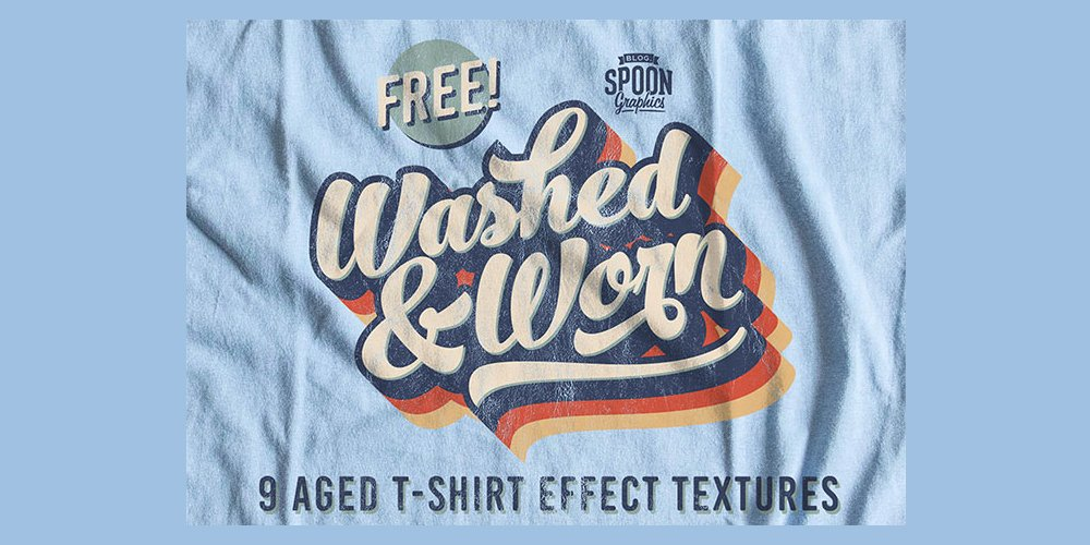 Free Washed & Worn Aged T-Shirt Effect Textures