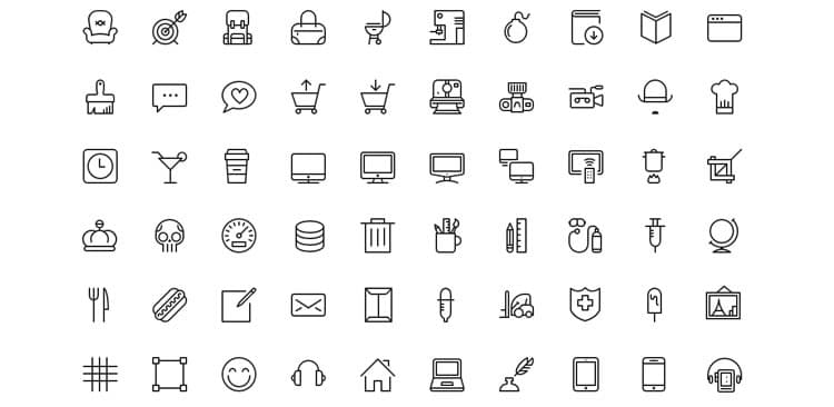 best free line icon fonts  u00bb css author