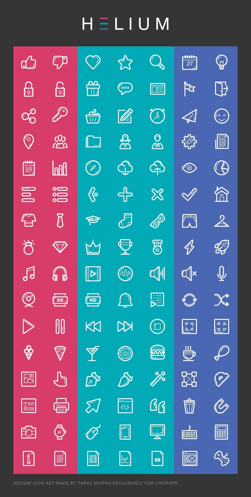 Helium Icon Font