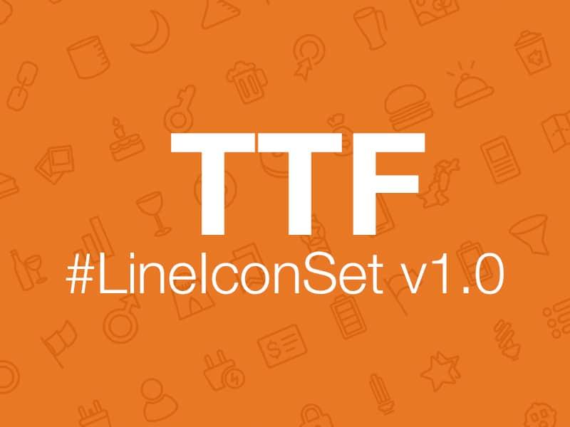 Line Icon Set v1.0 Font