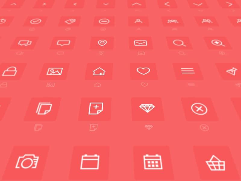 Minimal icon font