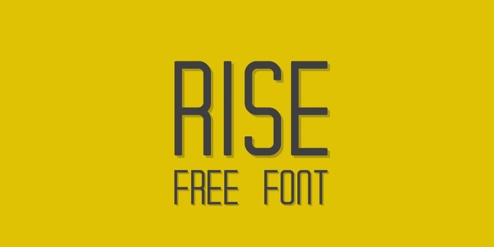 Rise Free Typeface